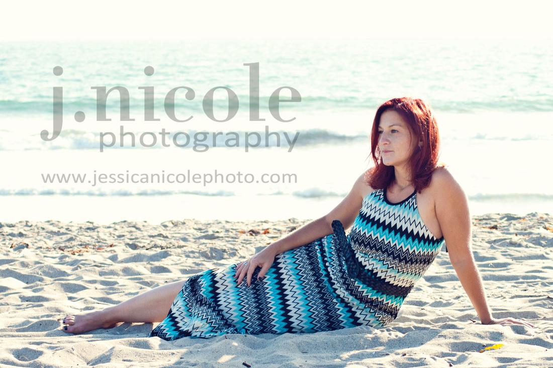 Gazing on the beach in Santa Monica
